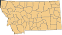 Divided county map of Montana